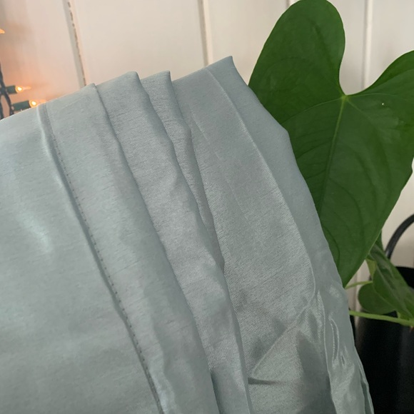 Mint green curtains- set of 4 with 2 bonus